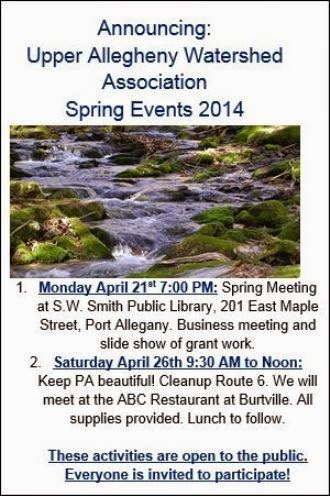 4-21/26 Spring Events For Watershed