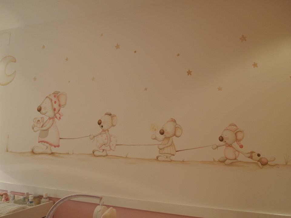 Caracolas deco la habitaci n de carla moy cerezuela - Cuadros infantiles silvia munoz ...