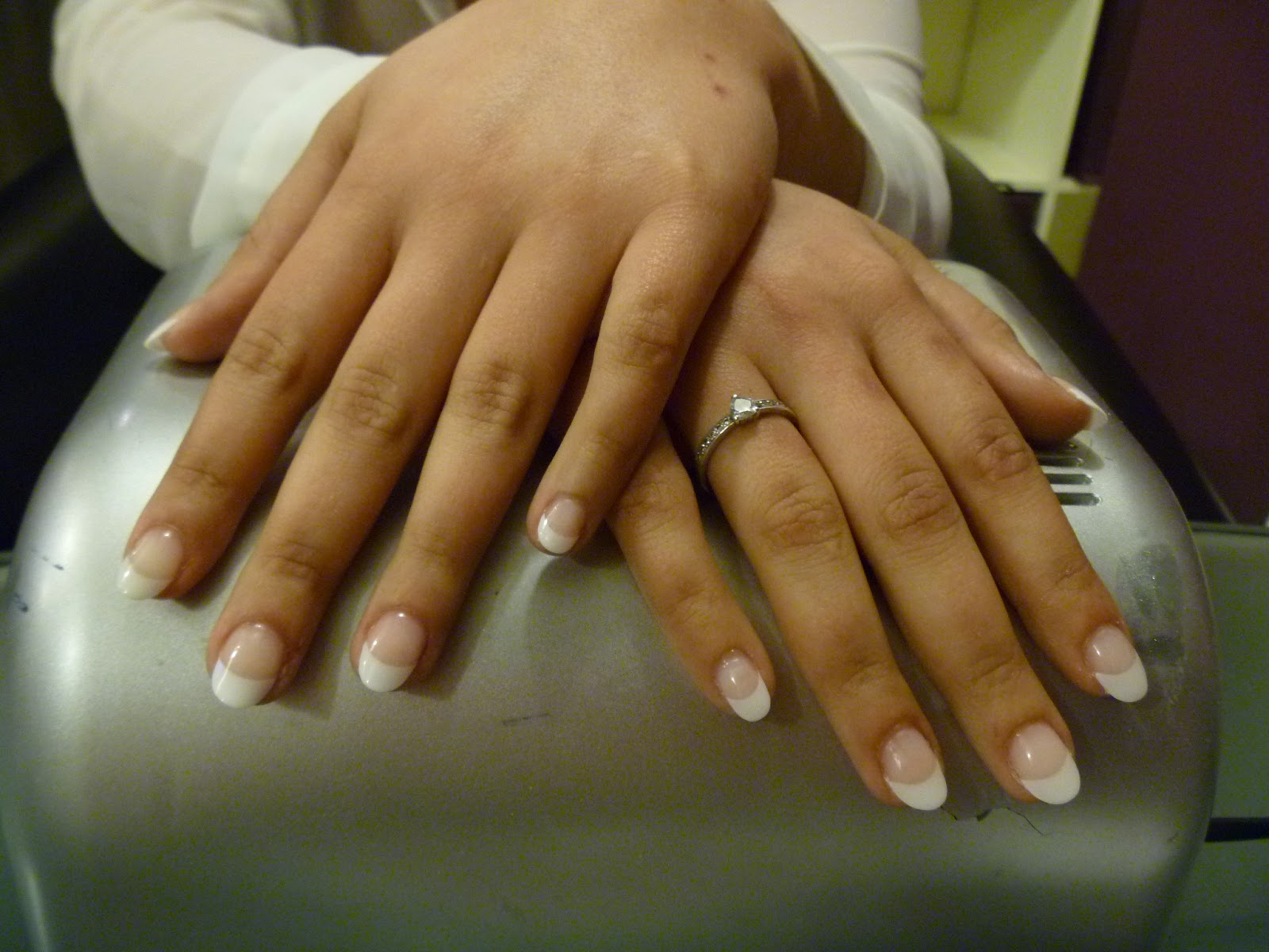 Ongles en gel, tips french