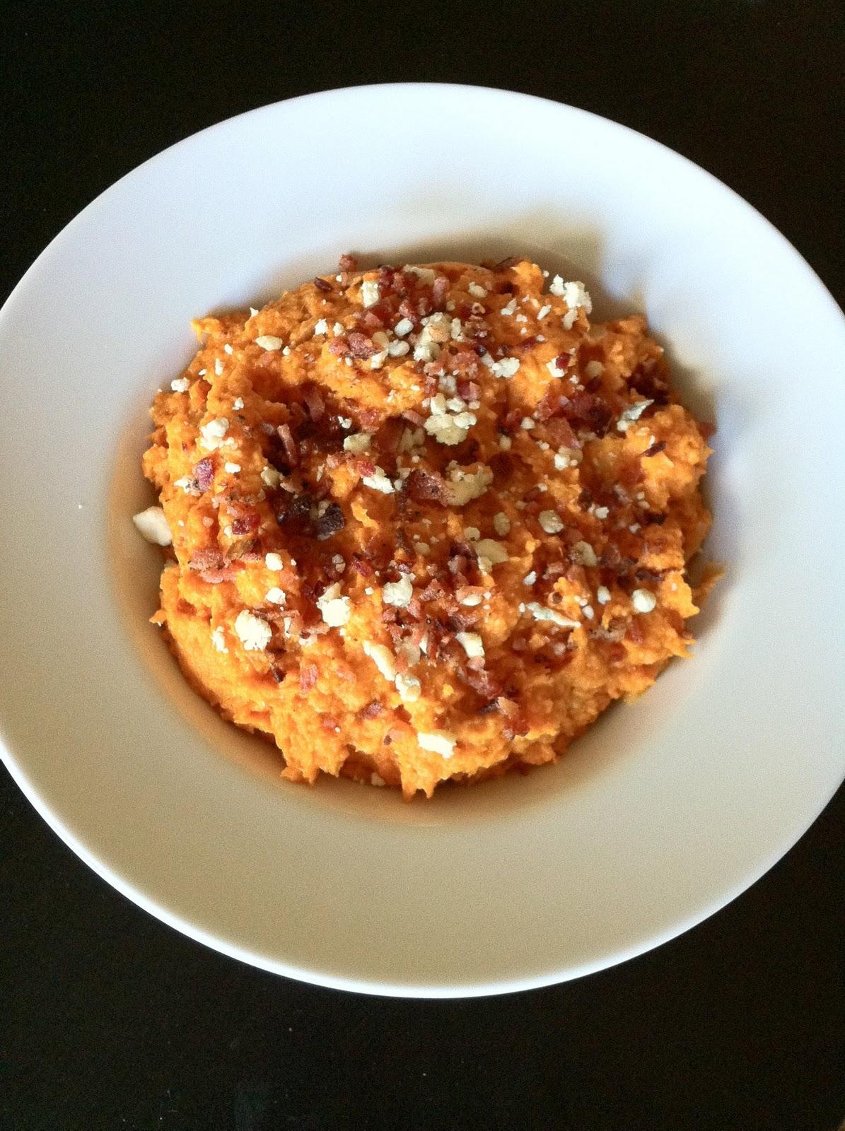 Roasted Sweet Potato, Garlic & Blue Cheese Mash   Cooking ...