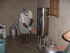 A produção de suco pasteurizado de imbu