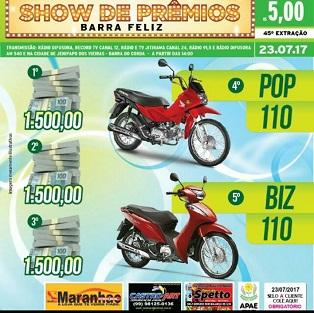 45ª EDIÇÃO DO SHOW DE PRÊMIOS BARRA FELIZ