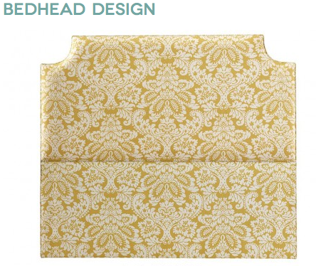 Upholstered bed head from Bedhead Design Sydney, custom made any size, shape or fabric.