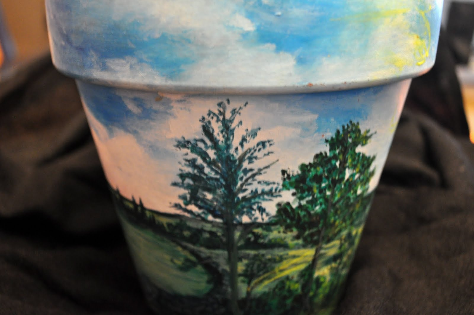 Hand Painted Flower Pots Hand Painted Flower Pot