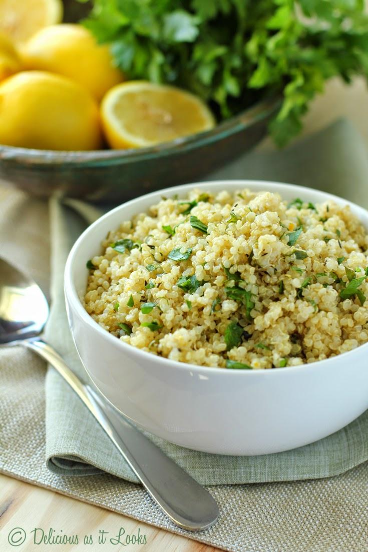 Lemon Herb Quinoa {Low-FODMAP, Gluten-Free, Vegan, Dairy-Free}  /  Delicious as it Looks