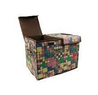 Buy Home Candy Squares Dual Compartment Cardboard Foldable Storage Box at Rs.449 From Amazon:buytoearn