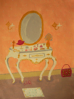 Vintage Dressing Table painting