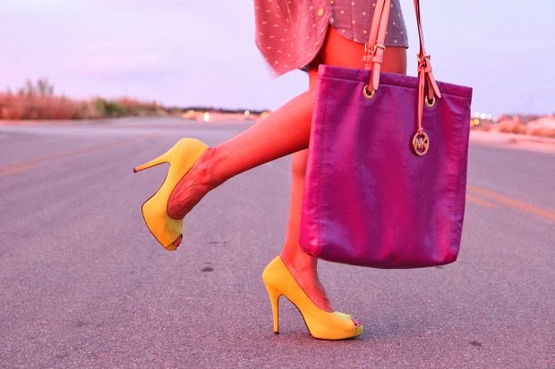 GAP dress, Charlotte Russe Pumps, Michael Kors Bag, ASOS Ring, Caravelle by Bulova Watch, Tanvii.com
