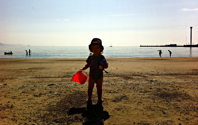 Toddler Fun on Weymouth Beach
