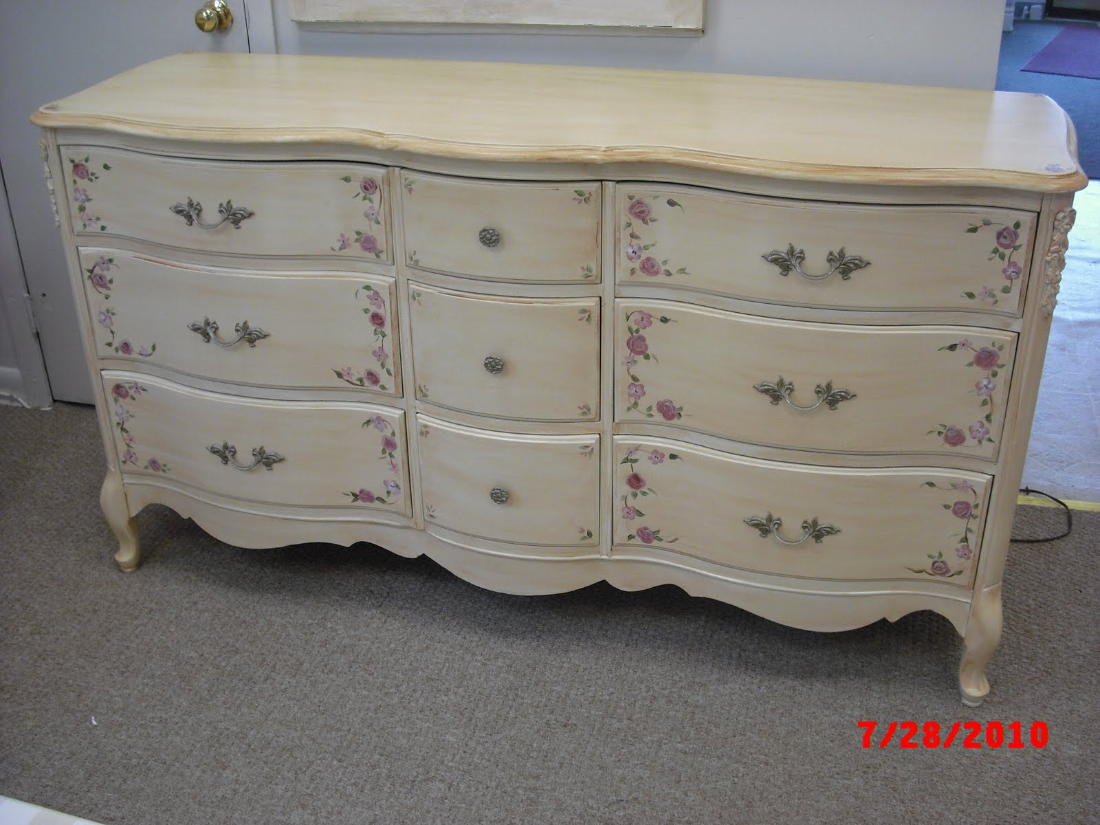 White Antique Dresser handpainted furniture blog, shabby chic vintage painted furniture