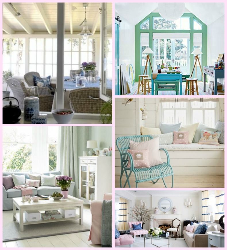 Coastal pastel rooms