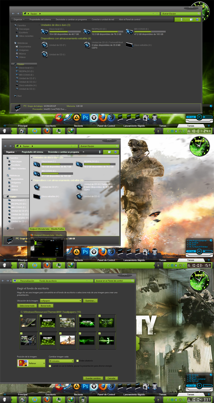 Call Of Duty Modern Warfare 3 [Tema para Windows 7] [x32/x64]