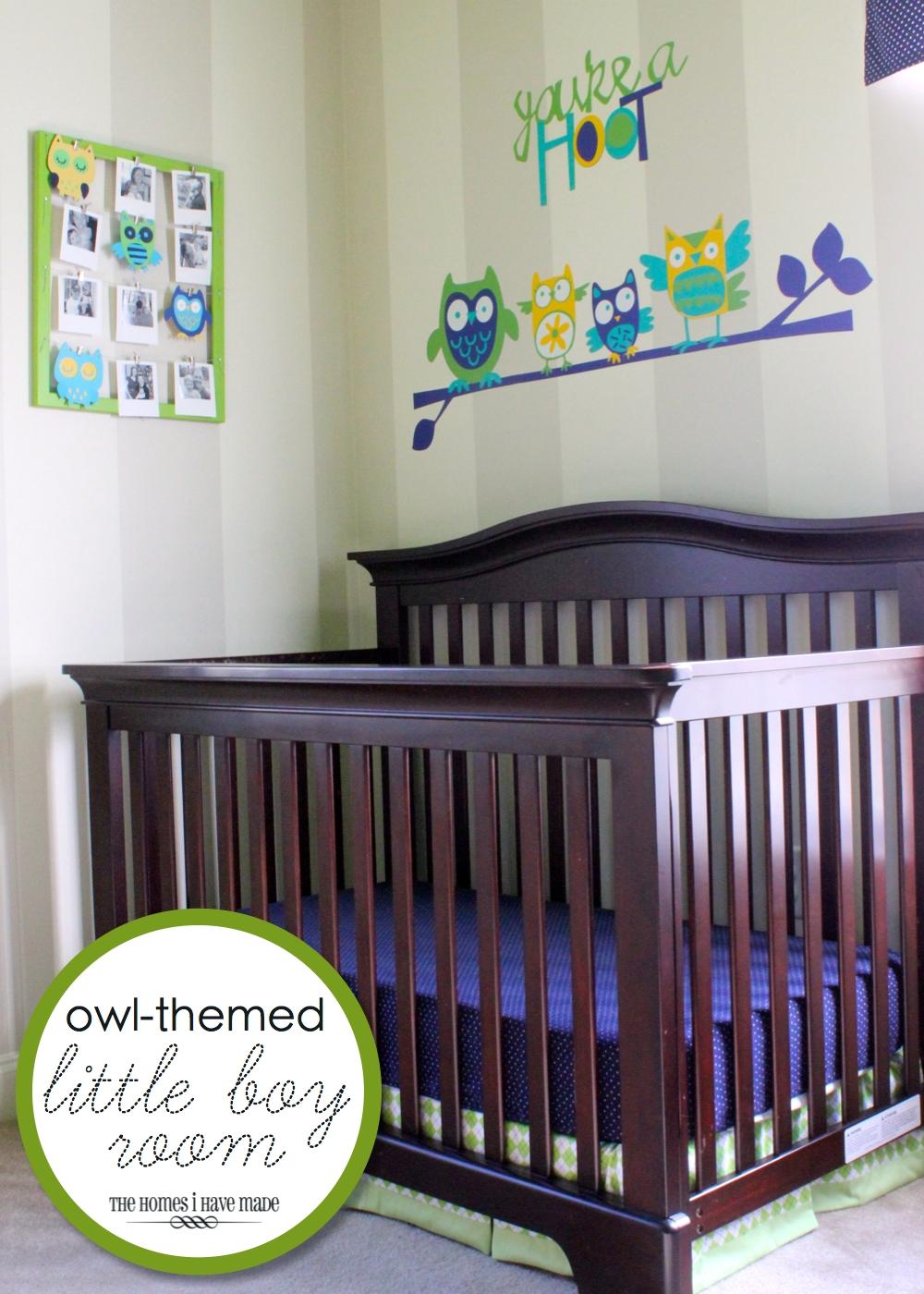 Owl Themed U201cLittle Boyu201d Room {Bedroom Reveal}