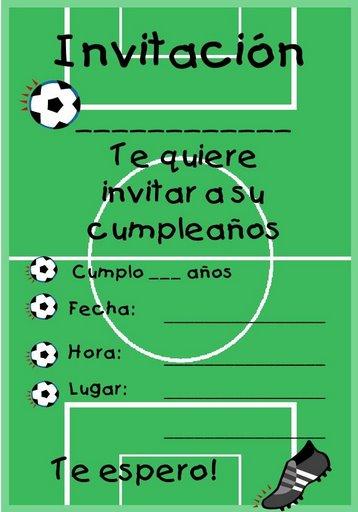 Invitaciones Para Imprimir De Futbol Soccer