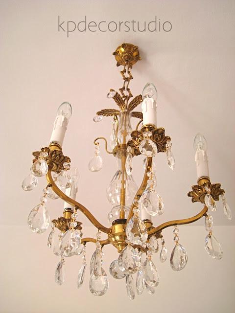 Lámparas antiguas restauradas en buenas condiciones. Comprar lámparas vintage estilo chandelier