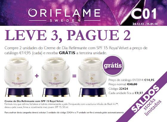 Flyer do Catálogo 01 de 2014 da Oriflame
