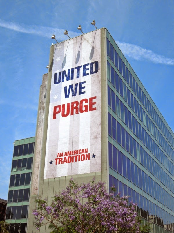 Giant United We Purge teaser billboard