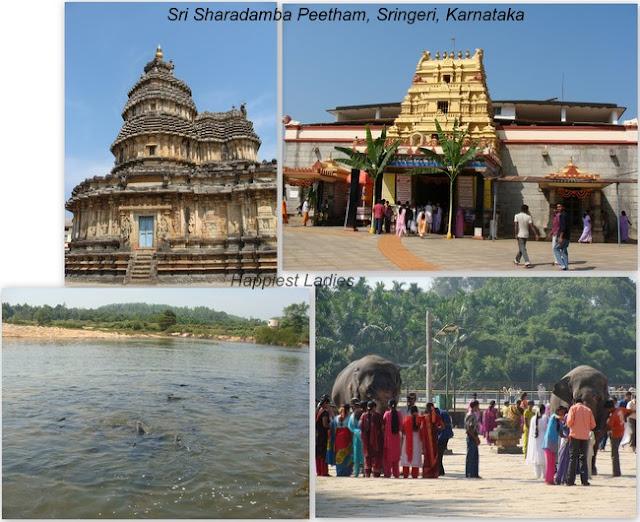 Sringeri Sharada Peetham karnataka+temples of karnataka