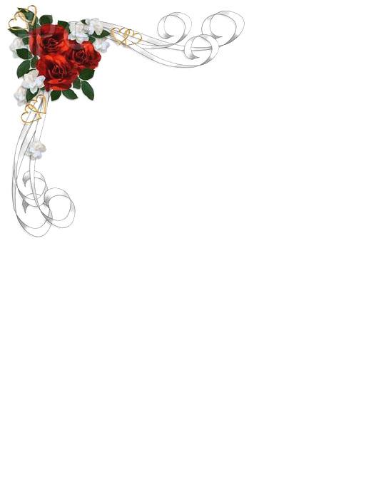 Bordes decorados para tarjeta de boda - Imagui