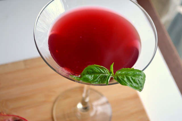 Pomegranate Basil Martini recipe