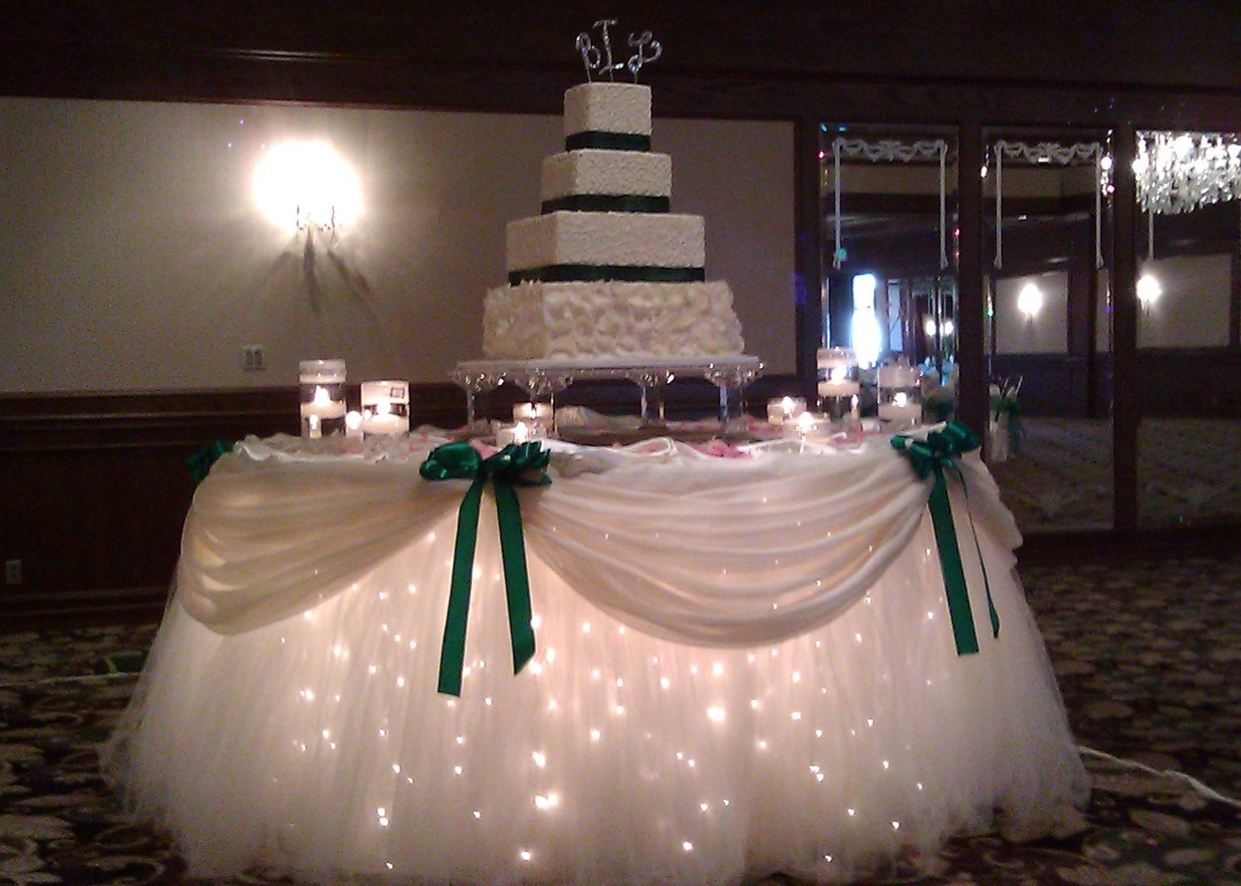 Decorating A Cake Table With Tulle