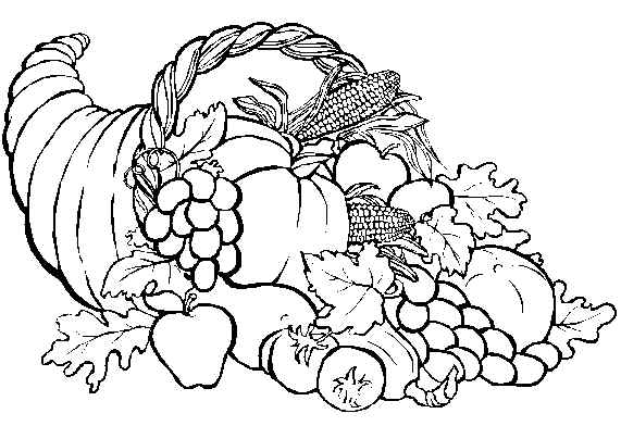 Cornucopia Coloring Pages For Teachers Pictures to Pin on