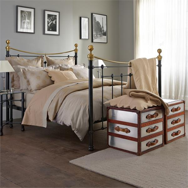 Bedrooms with metal beds