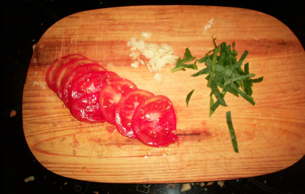 ingredientes cortados