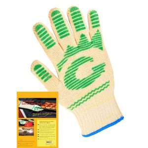 (2 Gloves Value Pack)-Oven Glove-Made of Nomex Heat resistant Fiber, Non-slip Silicone Grip
