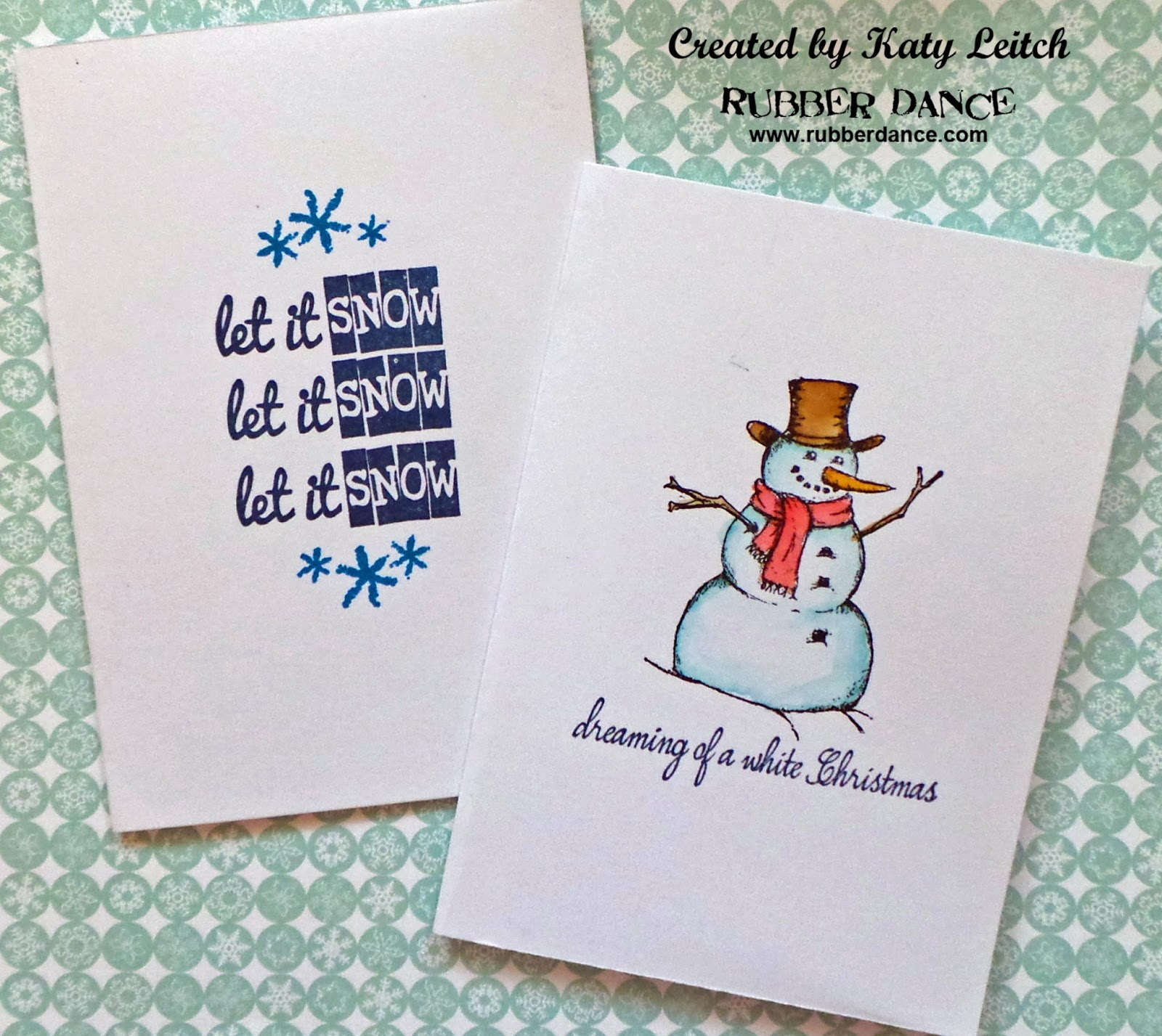 Rubber Dance Blog 5 Minute Christmas Cards By Katy