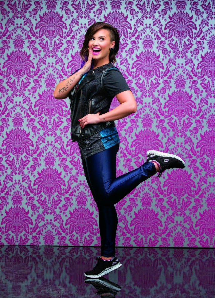 Demi Lovato poses for the Skechers Holiday 2014 Campaign