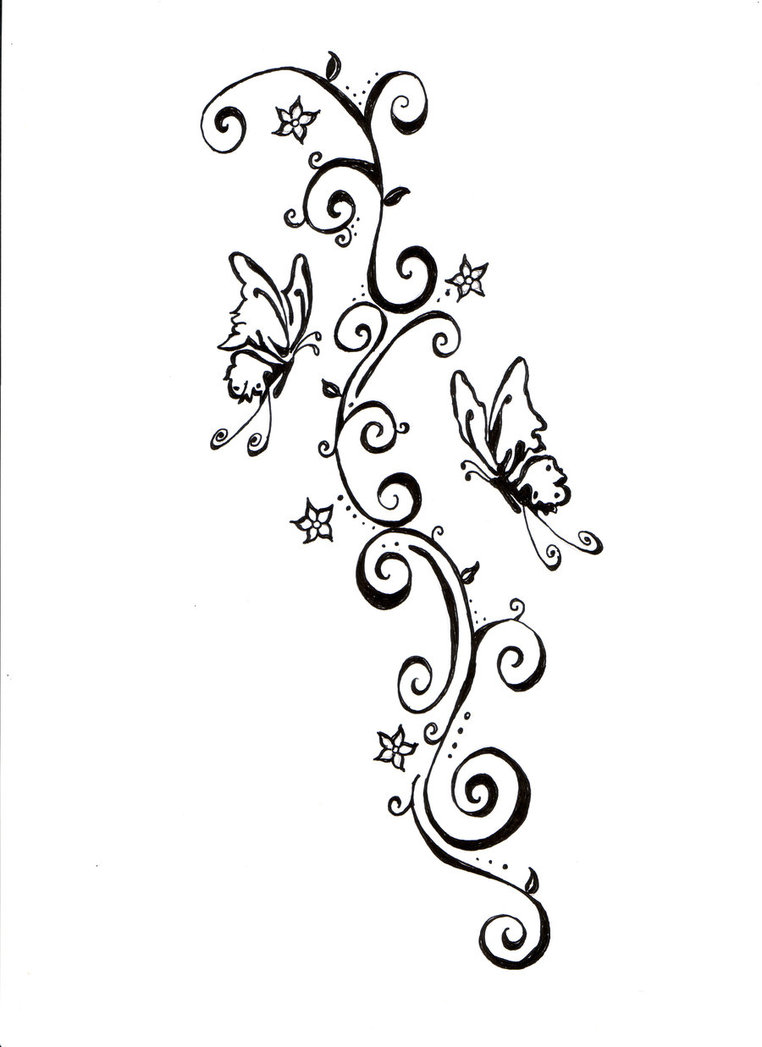 vine tattoo tribal butterfly pictures butterfly tattoos  Like Beautiful Tattoo