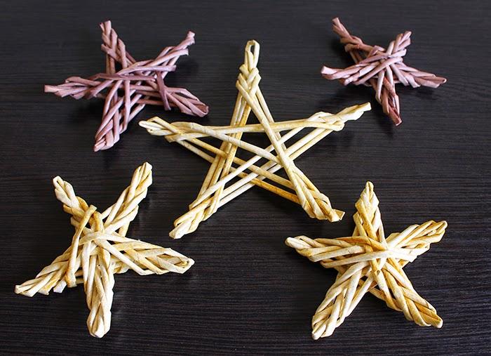 звездочки из бумажных трубочек