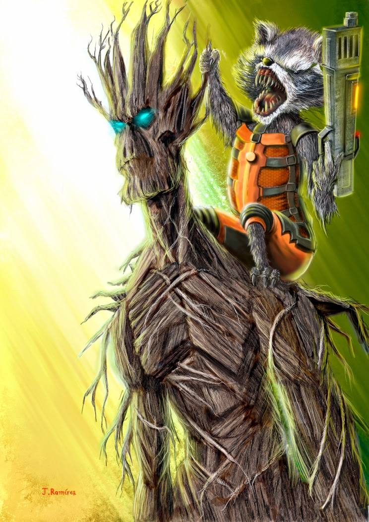 Groot Rocket Guardians Of The Galaxy
