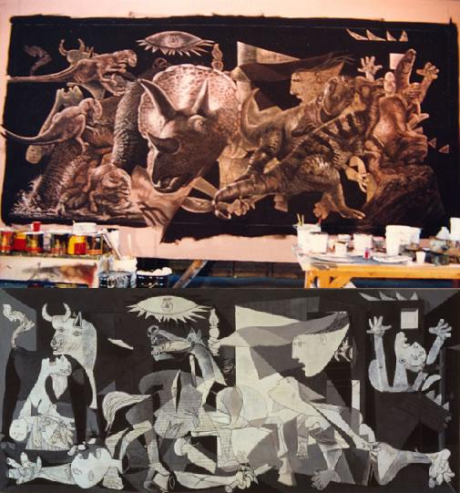 Comparación entre el cuadro de Jurassic Park y el Guernica de Picasso - Cine de Escritor