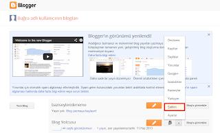 Blogger ana sayfası
