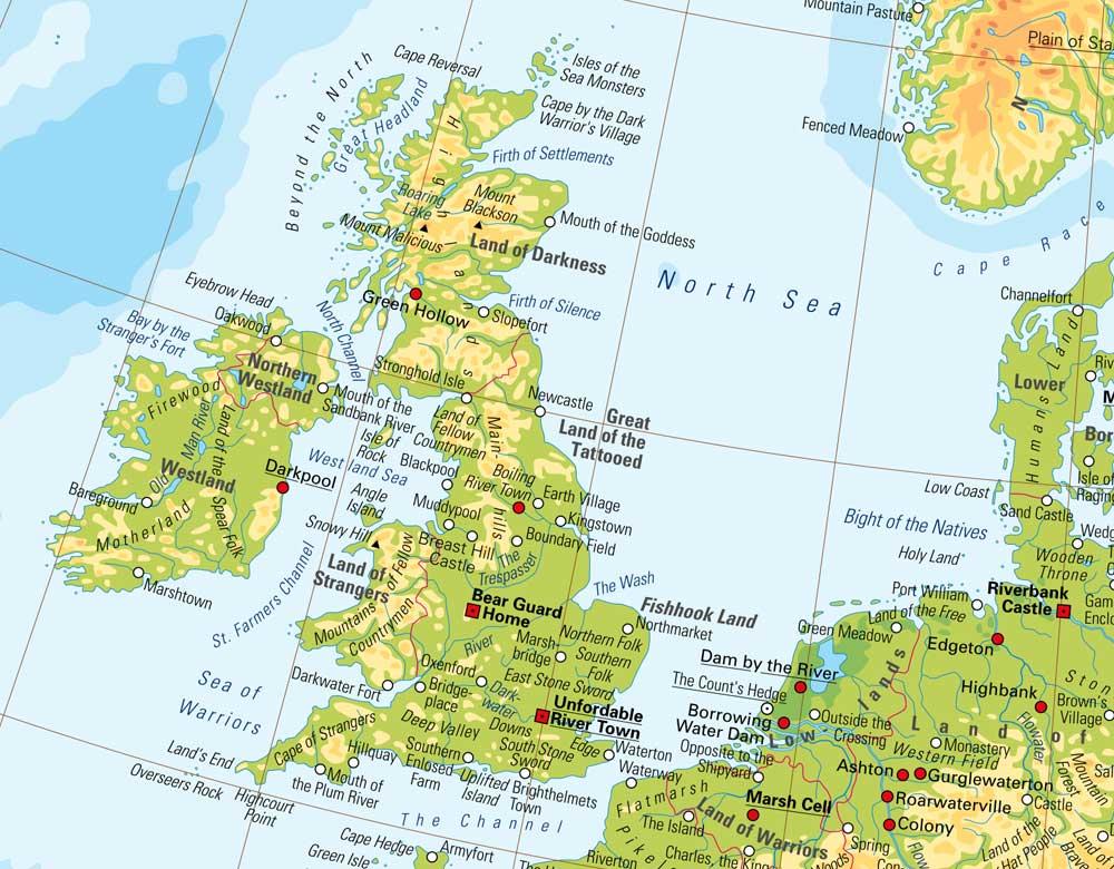 Online Maps The Atlas Of True Names - Online atlas