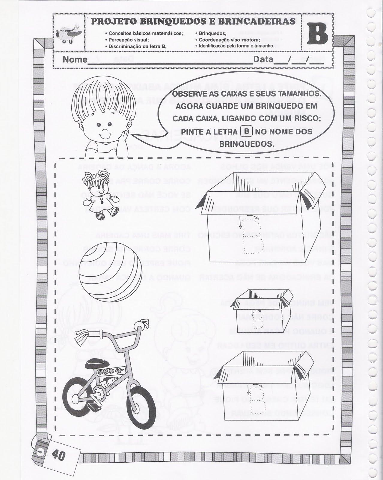 Fabuloso ♥Sugestão De Atividade Escolar♥: Projeto Brinquedos e Brincadeiras VB04