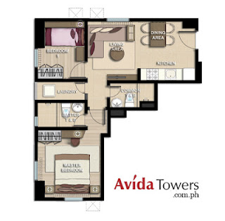 Avida Towers San Lorenzo Two Bedroom Unit Plan