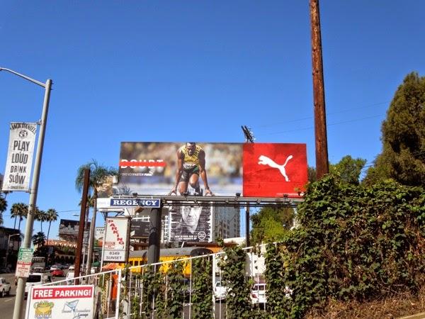 Usain Bolt Puma Forever Faster billboard