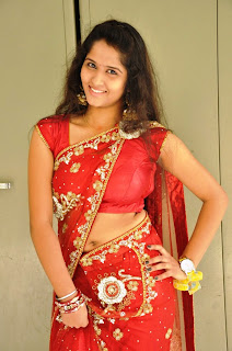 Jayanthi stunning Pics in Red Saree and Choli Lovely item girl Jayanthi