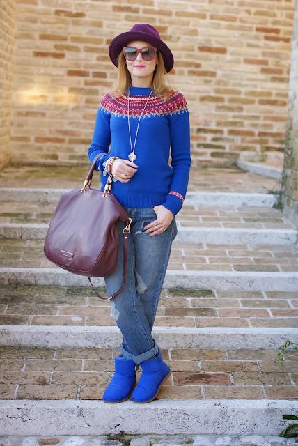 UGG Mini Bailey button, fair isle jumper, Ecua-Andino hat, Fashion and Cookies, fashion blogger