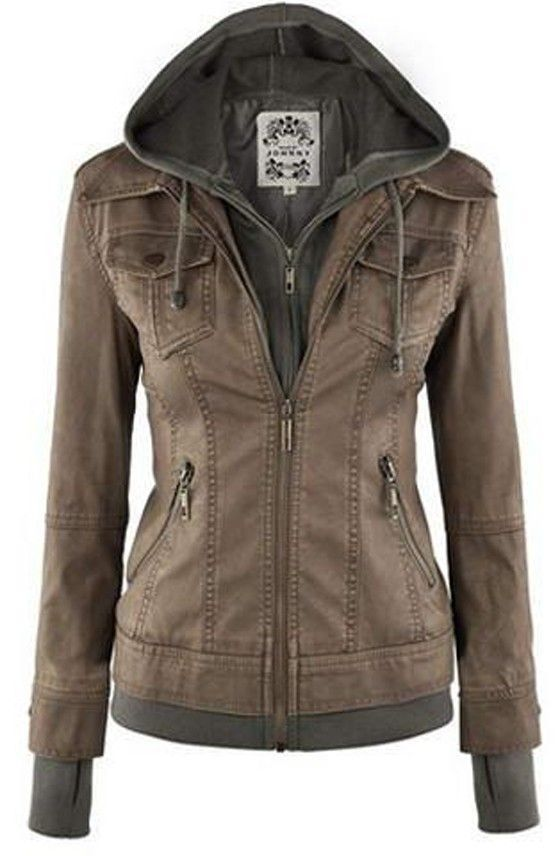 Khaki Plain Pockets False 2-in-1 Fashion Cardigan Coat
