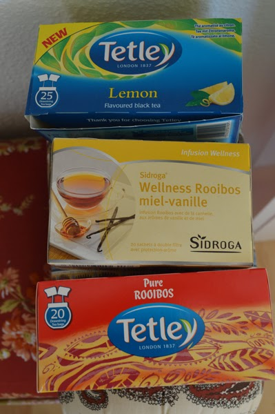 getting ready for chilly days by storing loads of tea