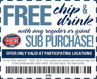 May 2015 Jersey Mike's Printable Coupon