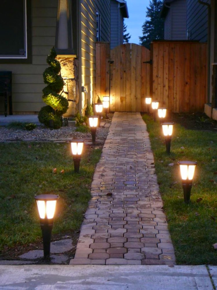 Garden Solar Lights Ideas : How to use led garden lights for decoration ideas