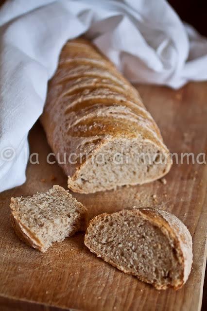 filoncini al lievito madre con farina integrale