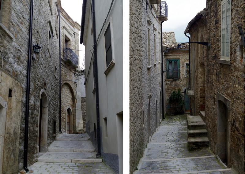 Altstadtgassen in Castelluccio Valmaggiore (Apulien)