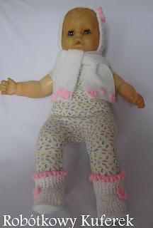 komplet dla dziecka na drutach