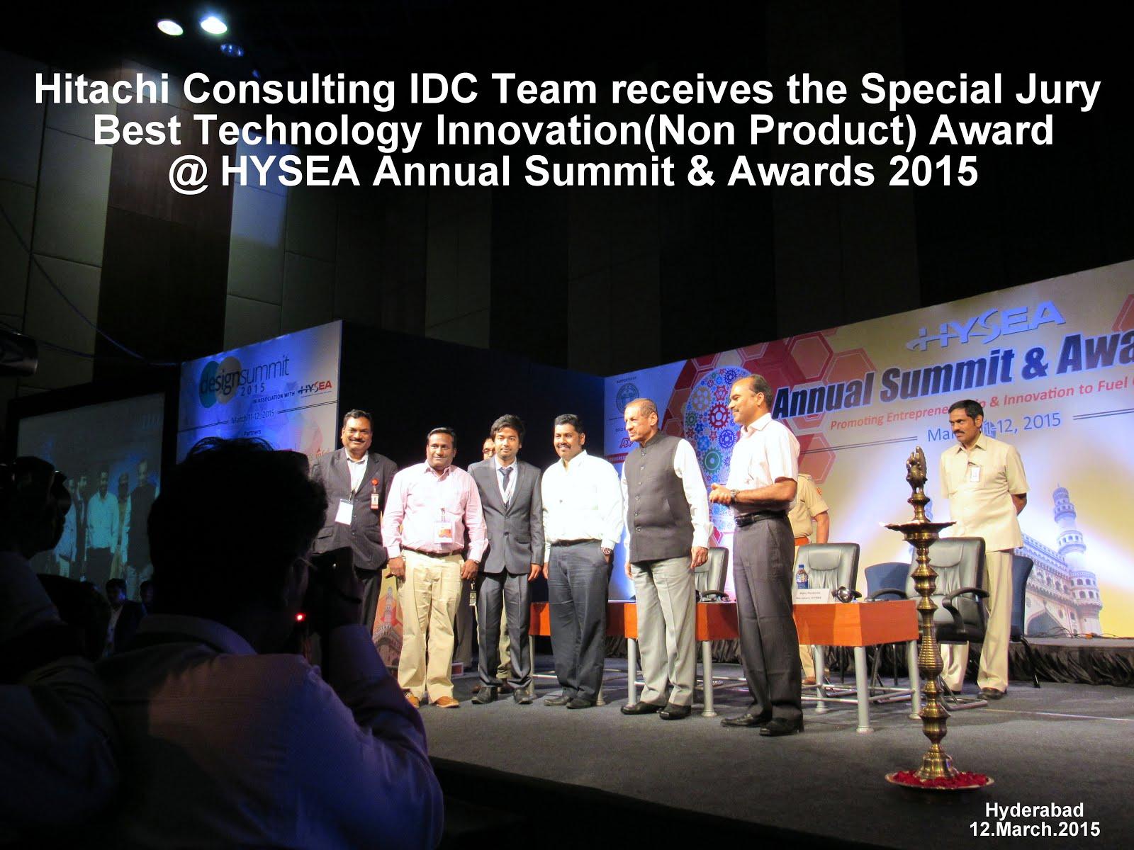 HYSEA Award for Innovation 2015